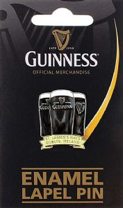 Guinness Three Pints metal / enamel lapel pin badge    (sg)
